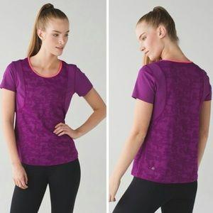Lululemon Run For Days Short Sleeve Tee Purple Top